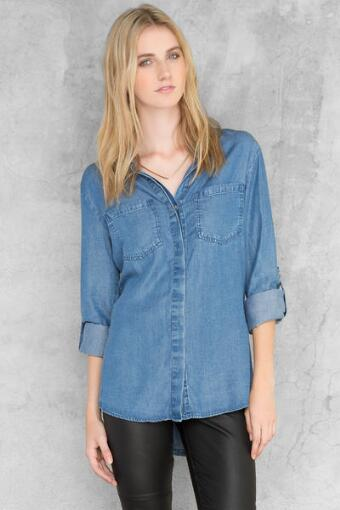 Teagan Chambray Blouse