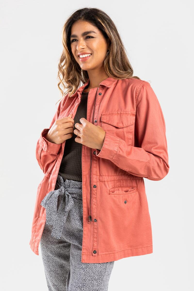 Allie Casual Jacket-Rose