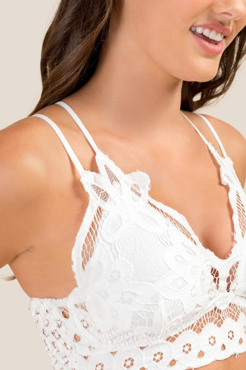 177125df7fa0a Val Lace Cropped Bralette-Ivory 3