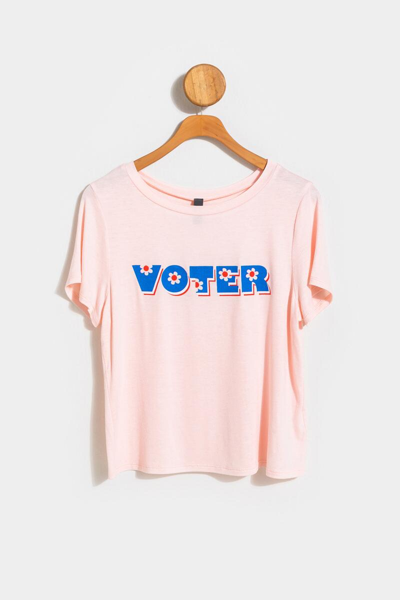 VOTER Floral Tee- Blush