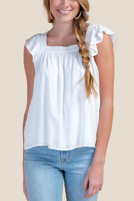 Brooklyn Ruffle Strap Tank Top