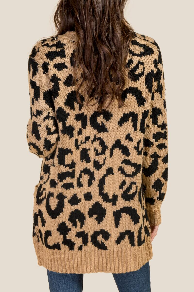 Willow Leopard Cardigan-  taup-cl2