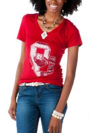 Oklahoma University Embellished Tee