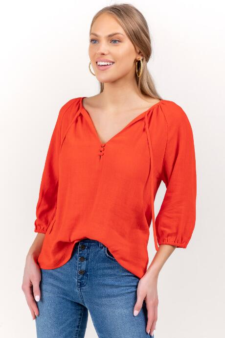 Sharon Peasant Neck Blouse