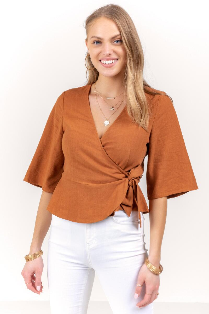 Serenity Wrap Top-  tort-cl