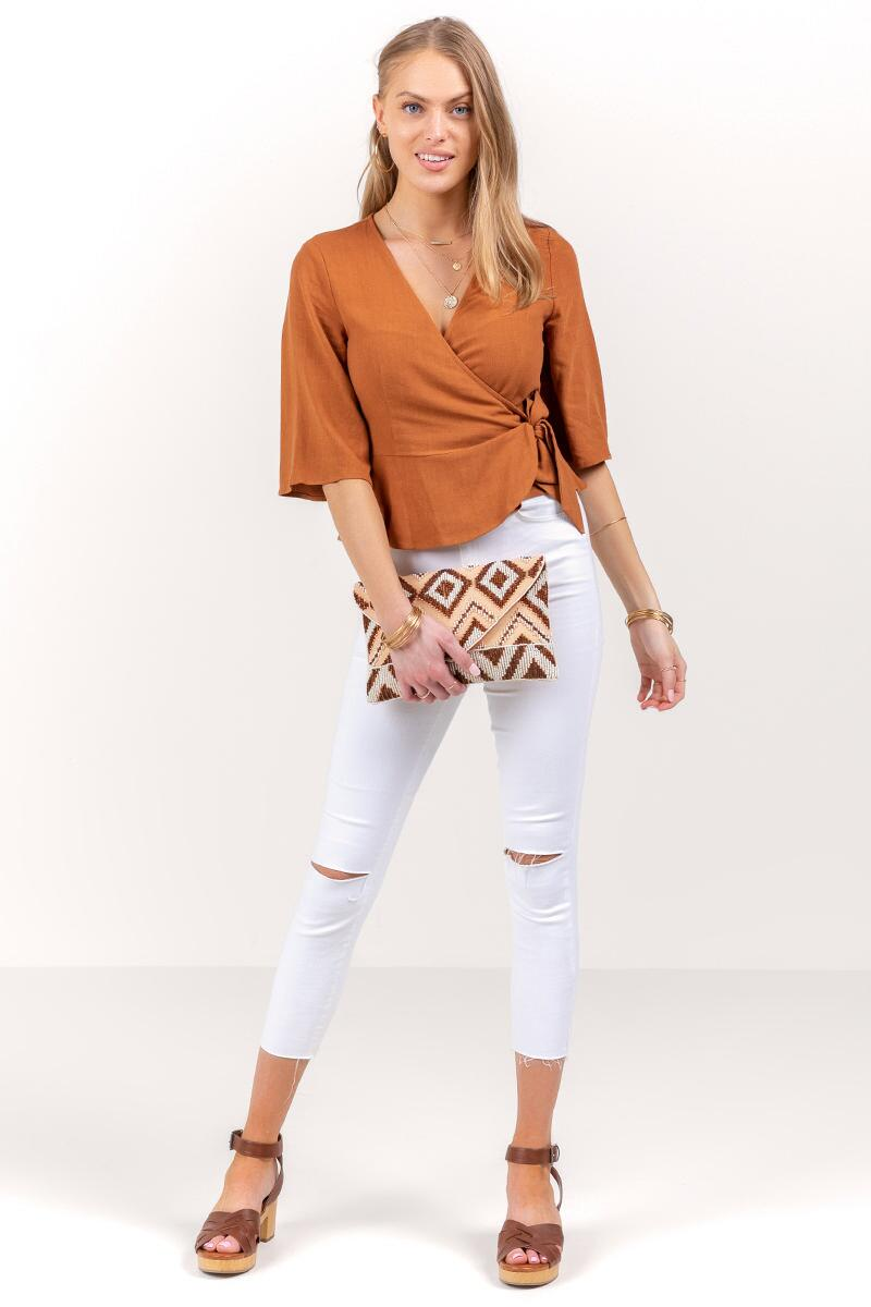 Serenity Wrap Top-  tort-cl4