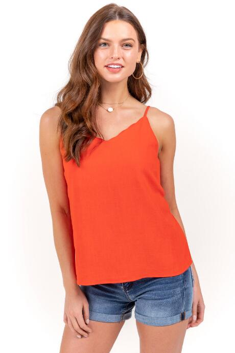 Brynlee Scallop Tank Top