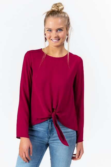 Raphaella Front Knot Top