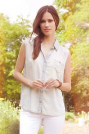 Jun & Ivy Chambray Tank